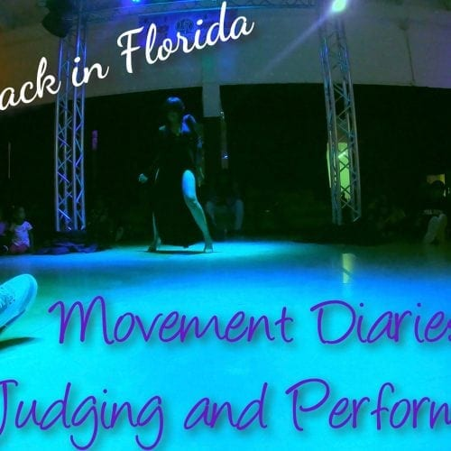 Movement Diaries Judging and Performing