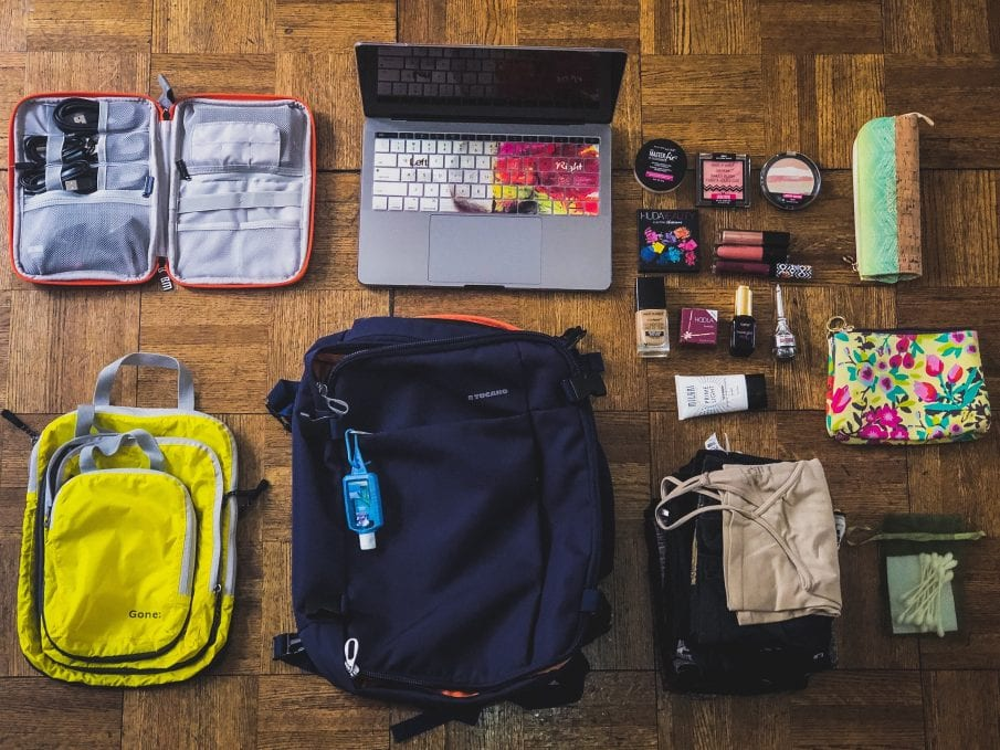 travel items to pack